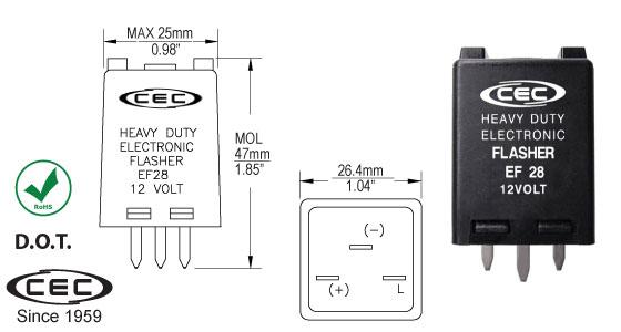 CEC Industries EF28 Flasher