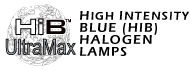 All High Intensity Blue (HiB) Halogen Lamps